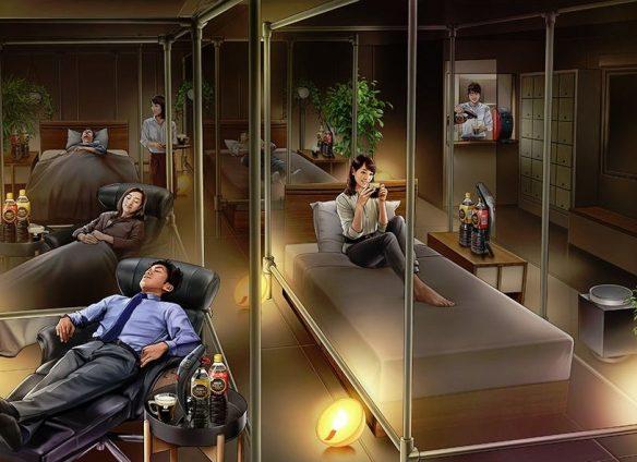 Take a power nap at the Nescafé Sleep Café