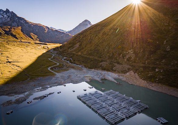 First Alpine floating solar plant in Switzerland