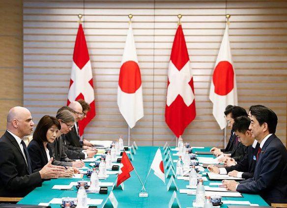 Swiss President Berset meets Prime Minister Abe